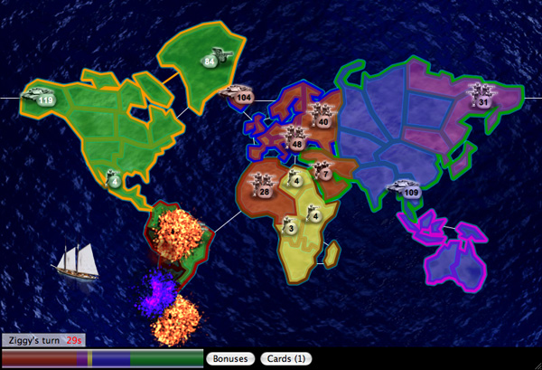 A Risk style game of domination with random maps, hard AI, and online play.