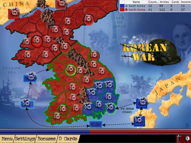 AHL Korean War Map