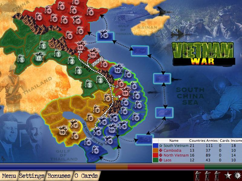 ahl vietnam war Map