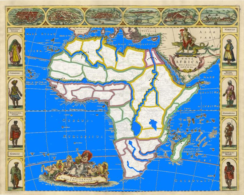 Africa 1660 Map
