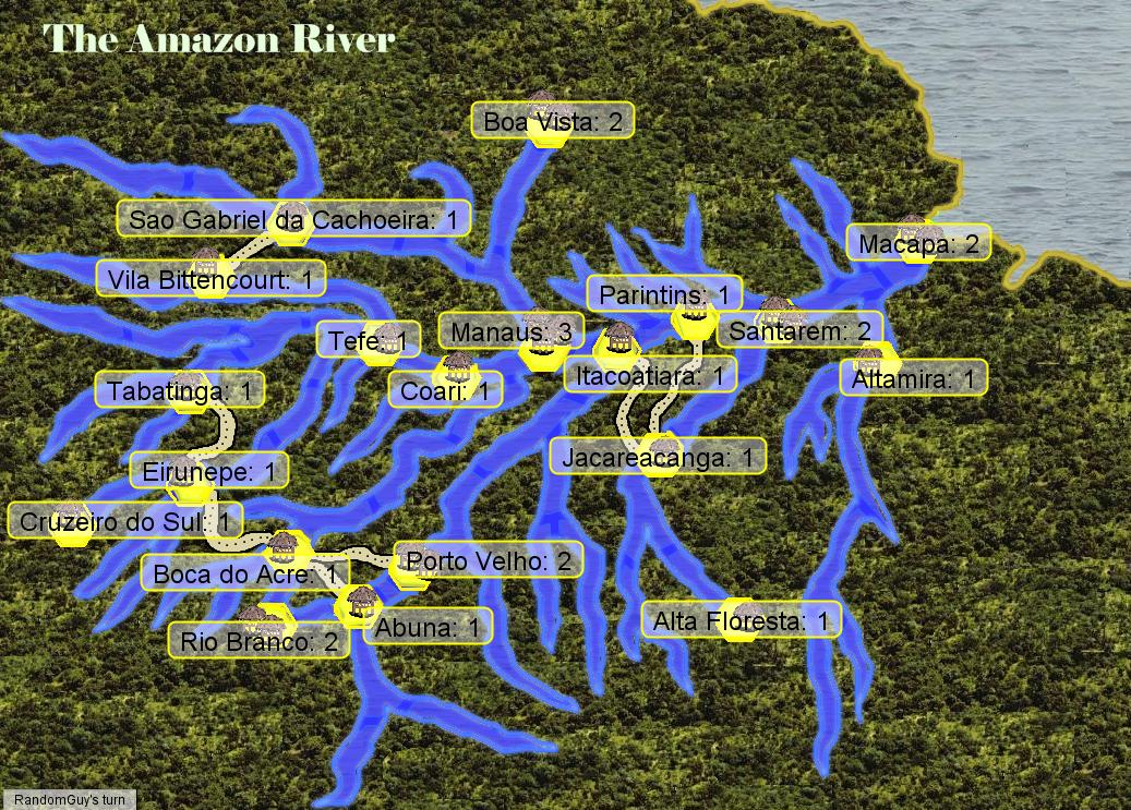 Amazon River Map - Amazon river map