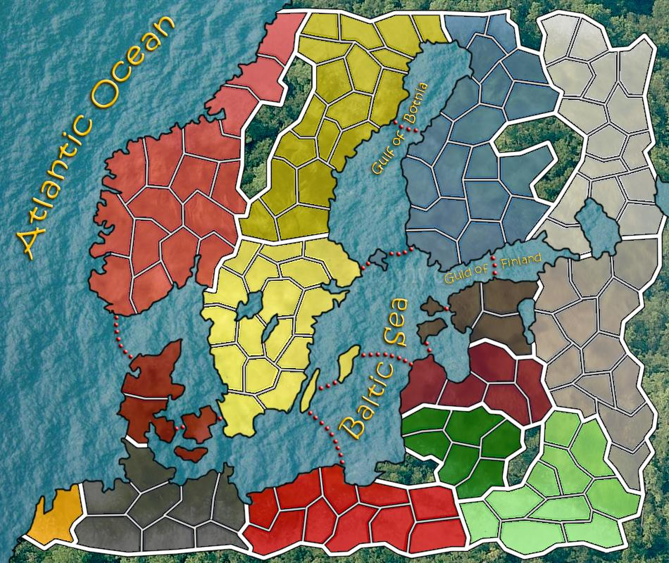 Battle of the Baltic Sea Map