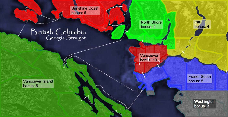 British Columbia Georgia Straight Map - Georgia map games