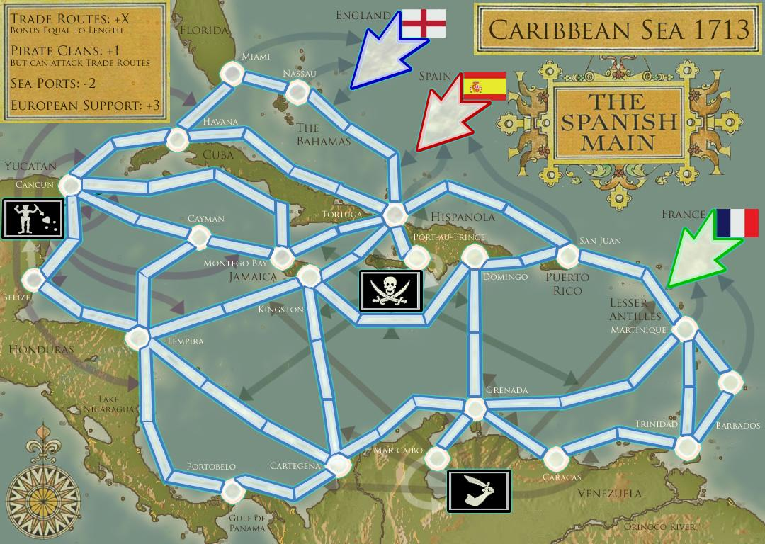 Caribbean Sea Map - Map of the caribbean sea