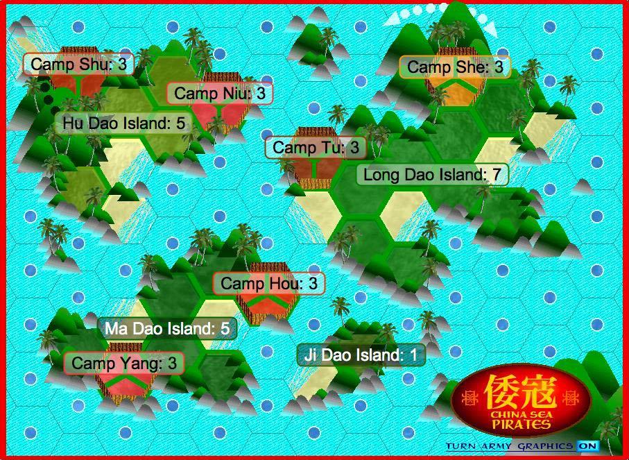 China Map Game.China Sea Pirates Map