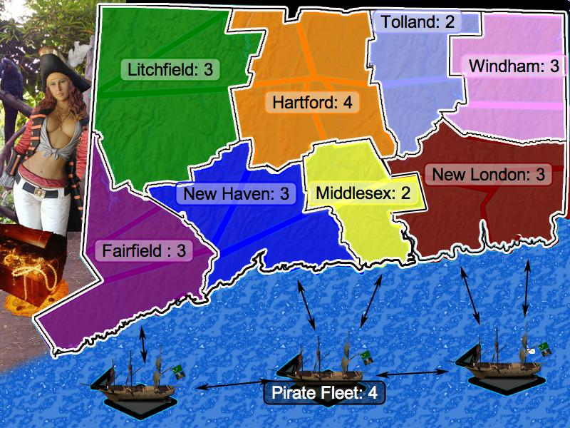 Connecticut under Siege Map