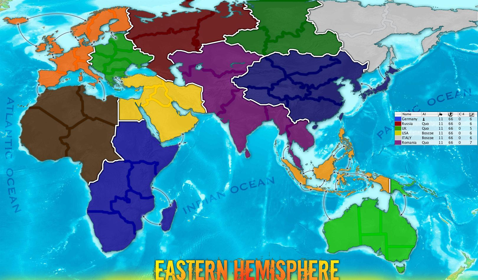 Eastern Hemisphere Map