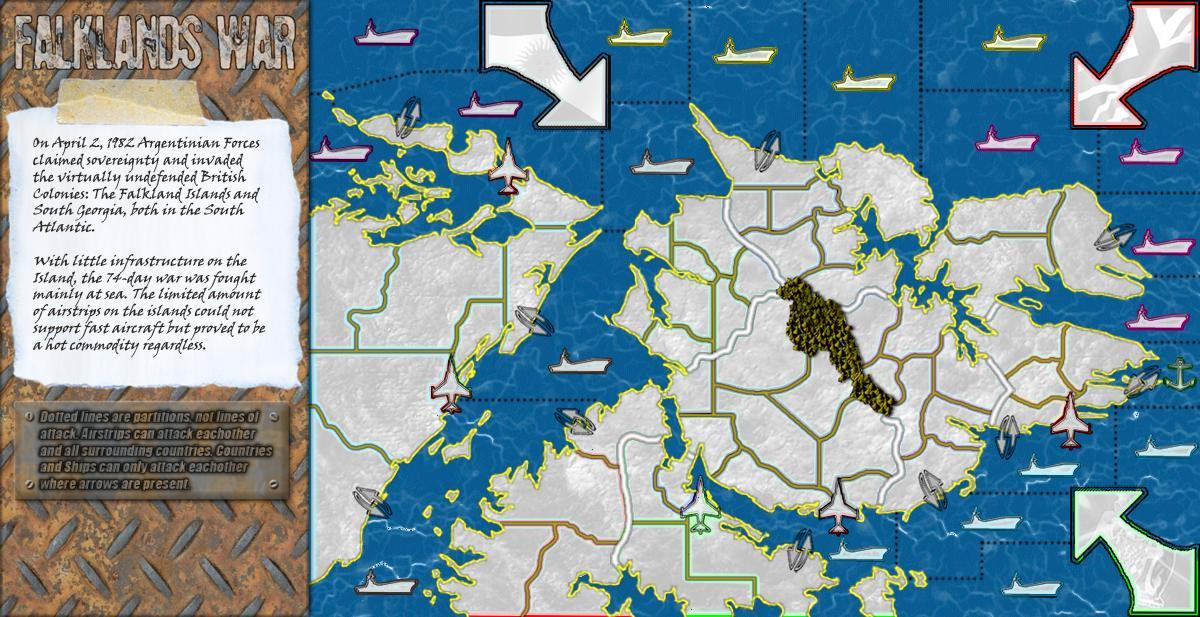 Falklands War Map - Georgia map games