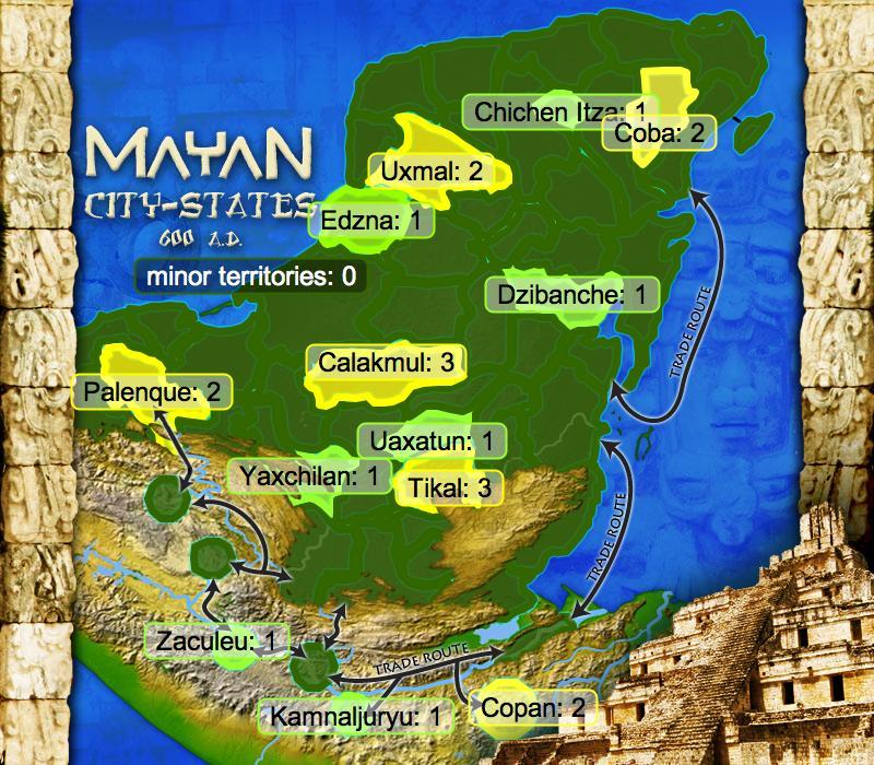 Mayan City-states Map