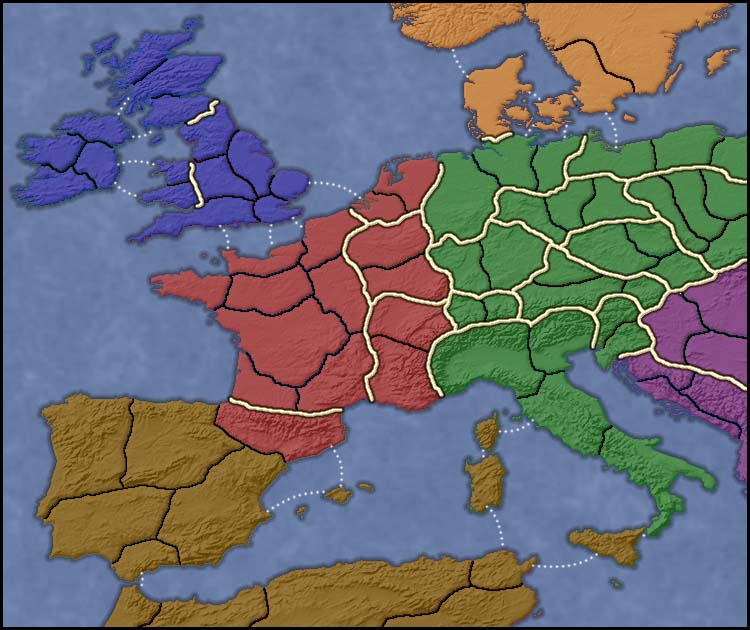 Medieval Europe Map