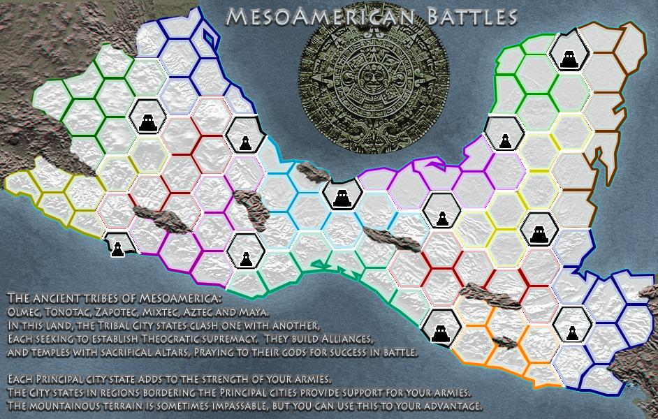 Mesoamerican Battles Map