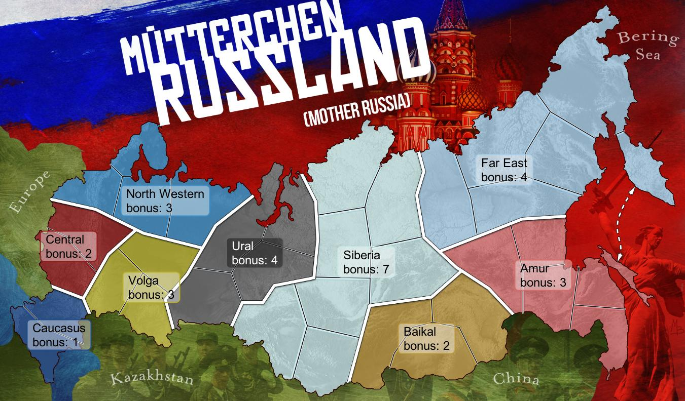 mother russia map