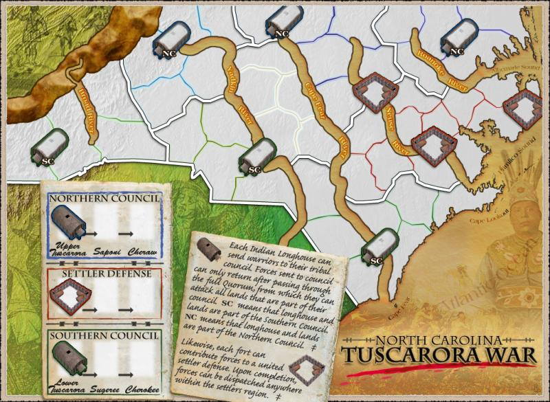 North Carolina - Tuscarora War Map