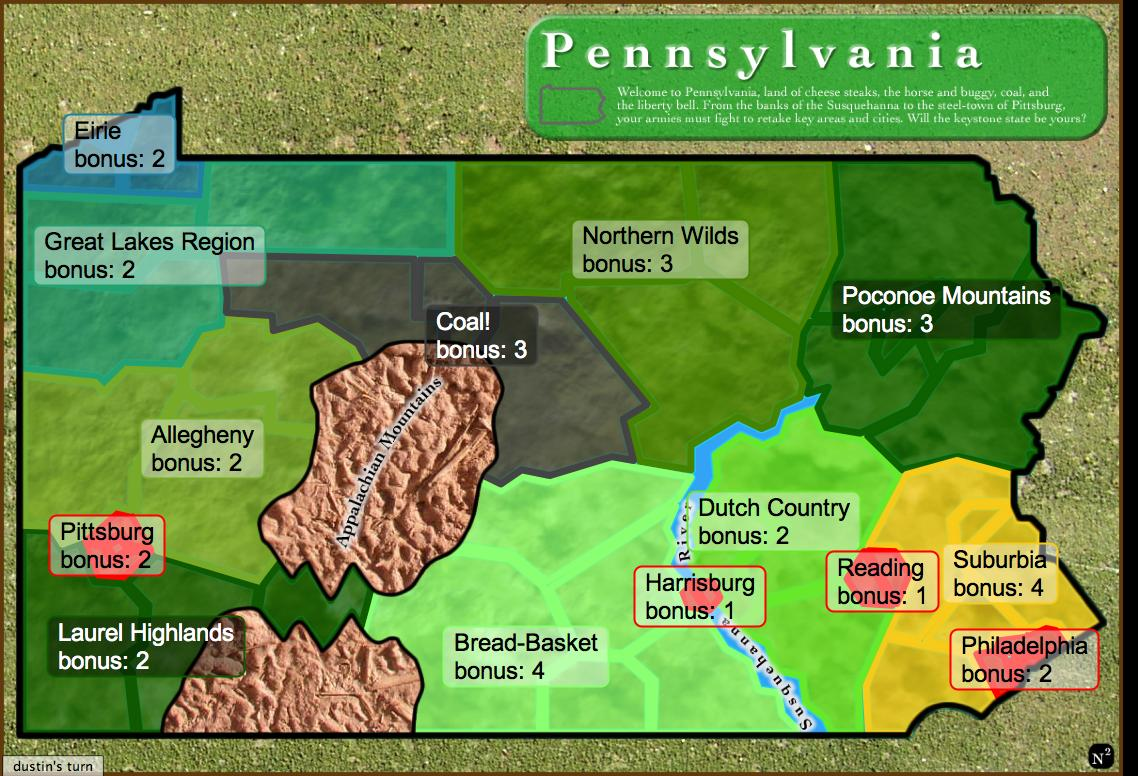 Pennsylvania Map - Pennyslvania map
