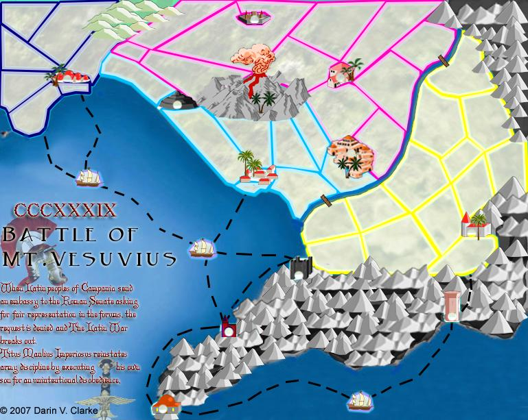 RBL Mt Vesuvius Map - Mount vesuvius map