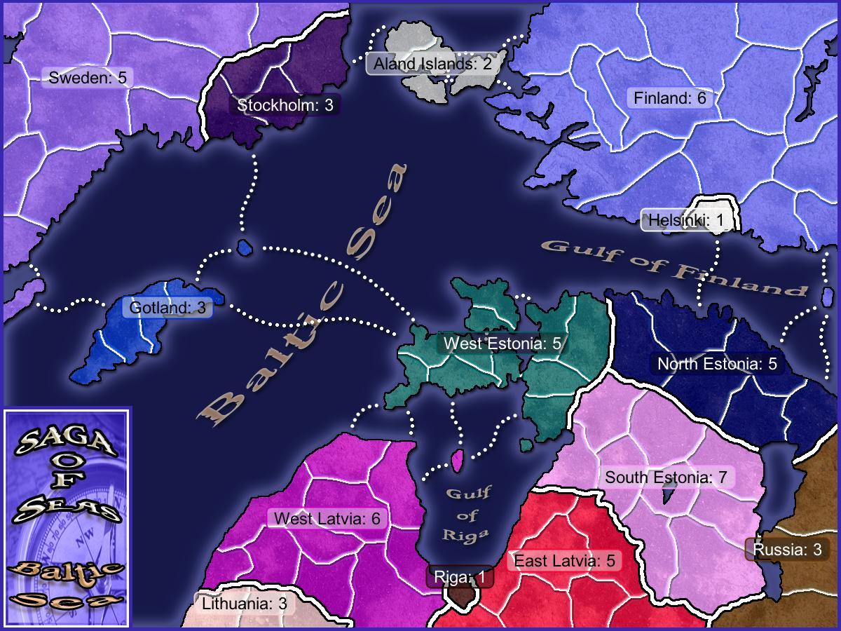 Saga of Seas - Baltic Sea Map