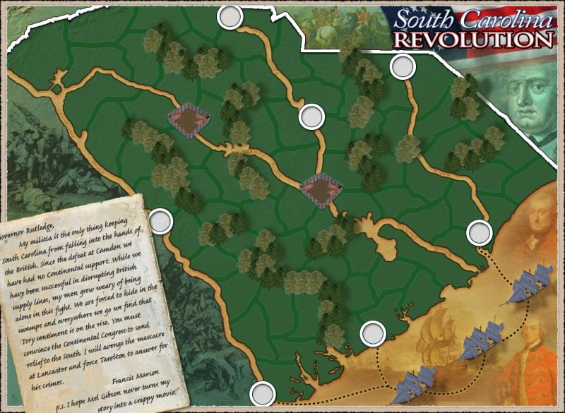 South Carolina - Revolution Map
