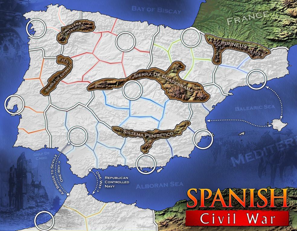 Spanish Civil War HD Map