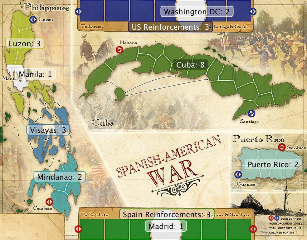 Spanish american war map gumiabroncs Gallery