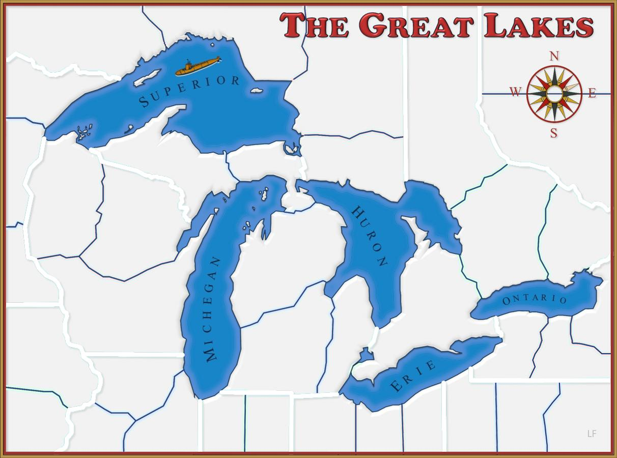 Great Lakes Map With Names Great Lakes Names Map