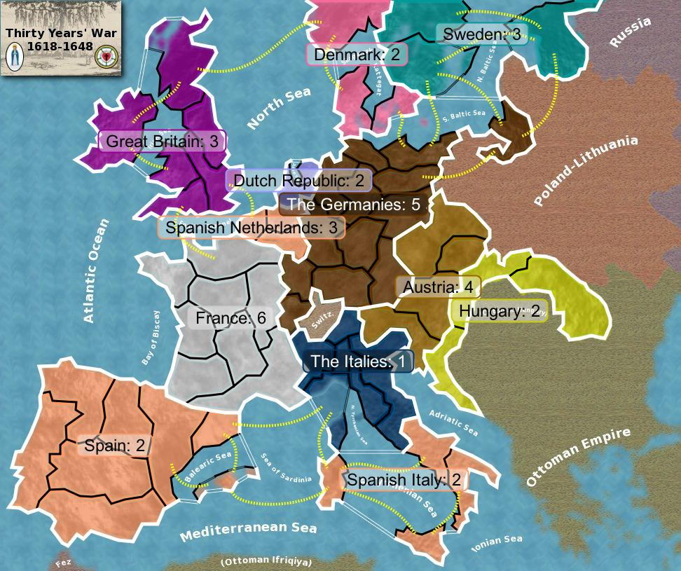 Thirty Years War Map - Map germany thirty years war