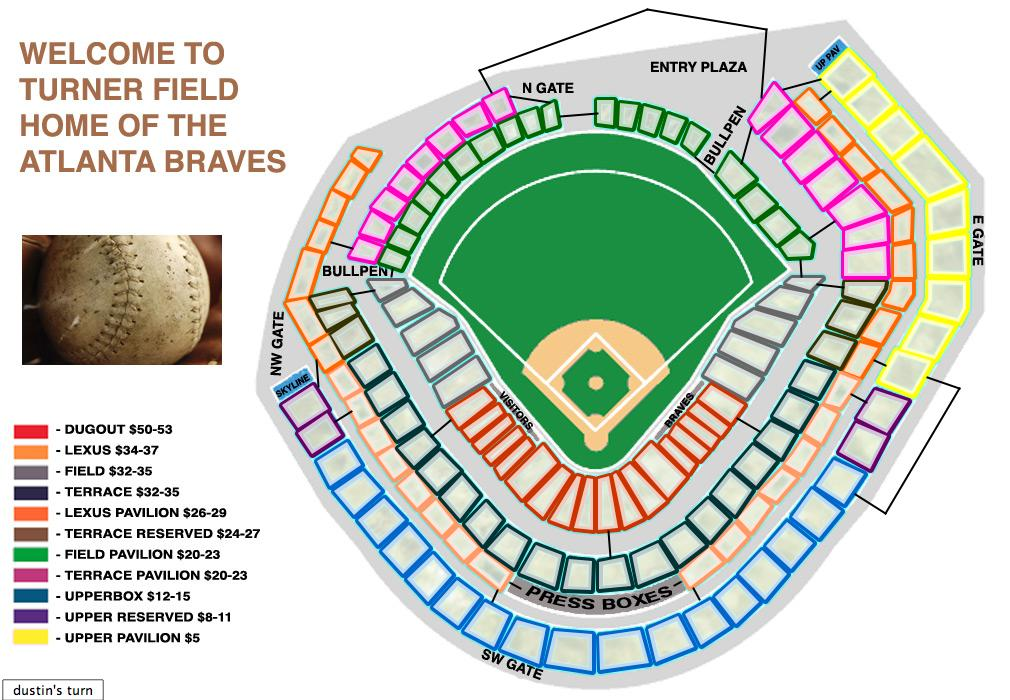 Turner field map