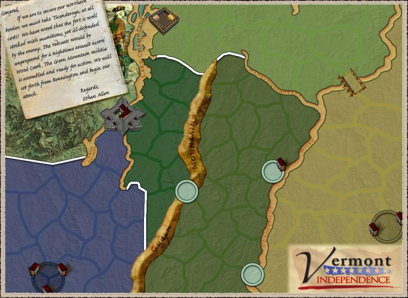 Vermont - Independence Map
