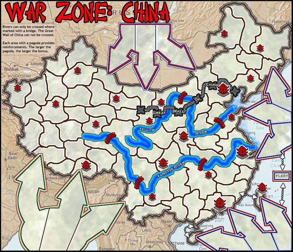 China Map Game.War Zone China Map