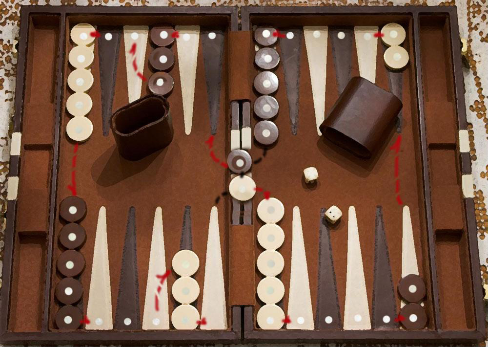 backgammon Map