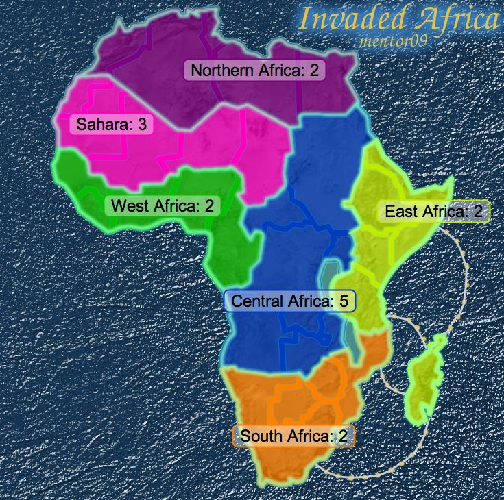 invaded Africa