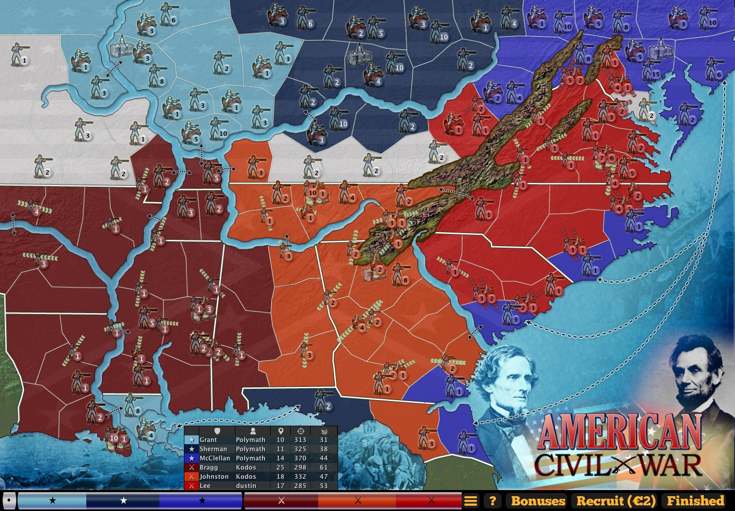 American civil war map — more maps — castle vox game info