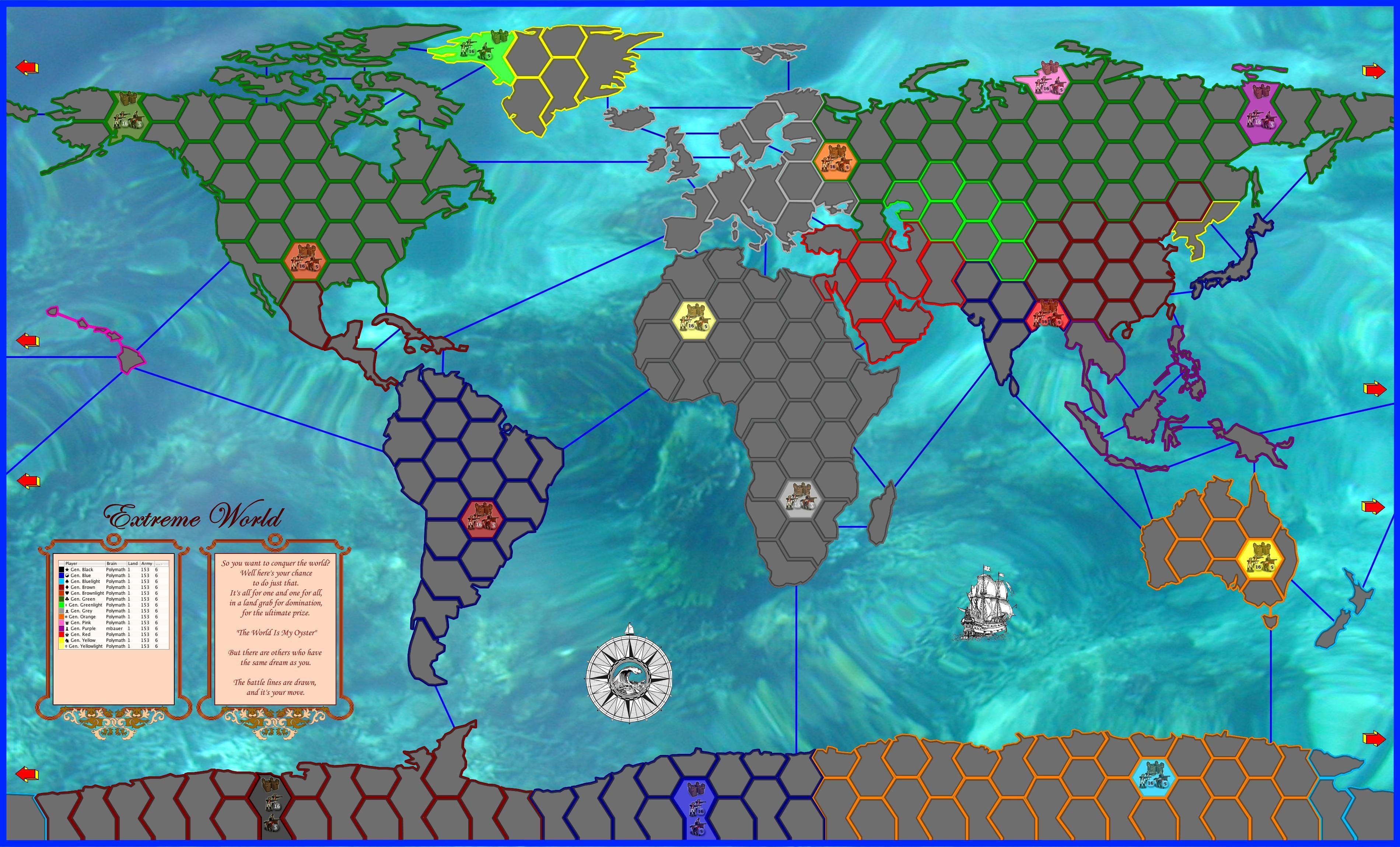 EXTREME WORLD Map