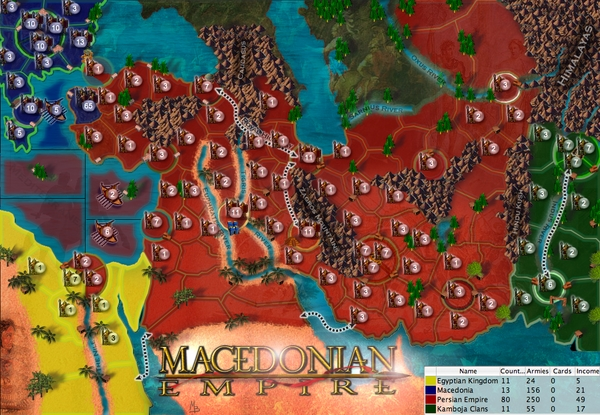 Ancient macedonia map from ancient empires lux ancient macedonia map gumiabroncs Images