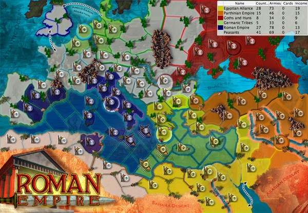 Roman empire map from ancient empires lux roman empire map gumiabroncs Images