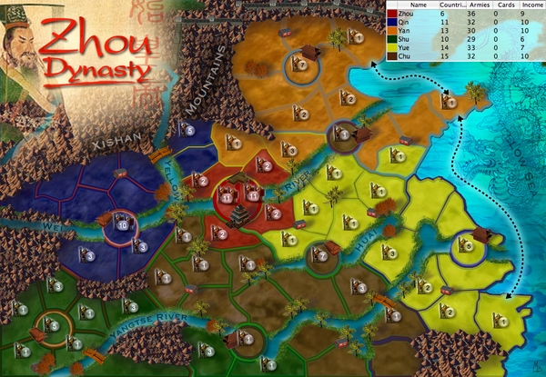 China Map Game.Ancient China Zhou Dynasty Map From Ancient Empires Lux