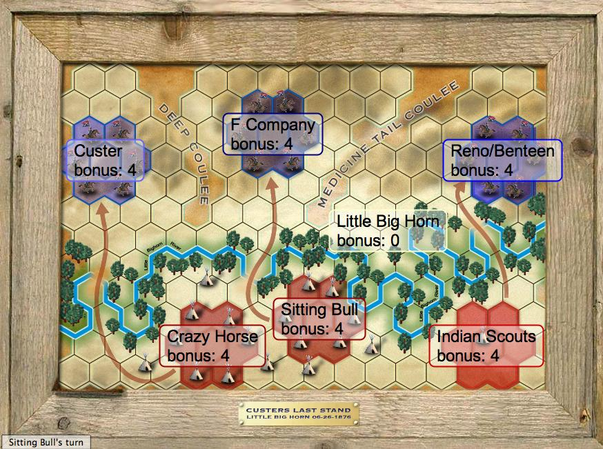 Battle Of The Little Bighorn Map - Us map with little bighorn river
