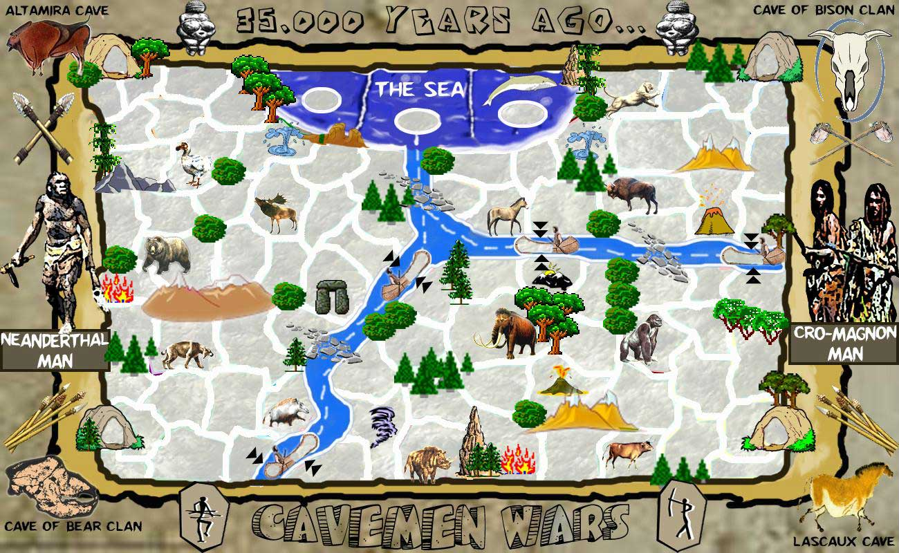Classic Man Cave Map : Cavemen wars map