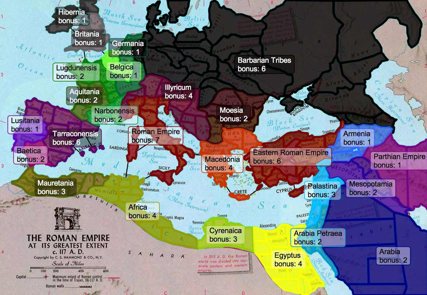 Roman Empire Map on