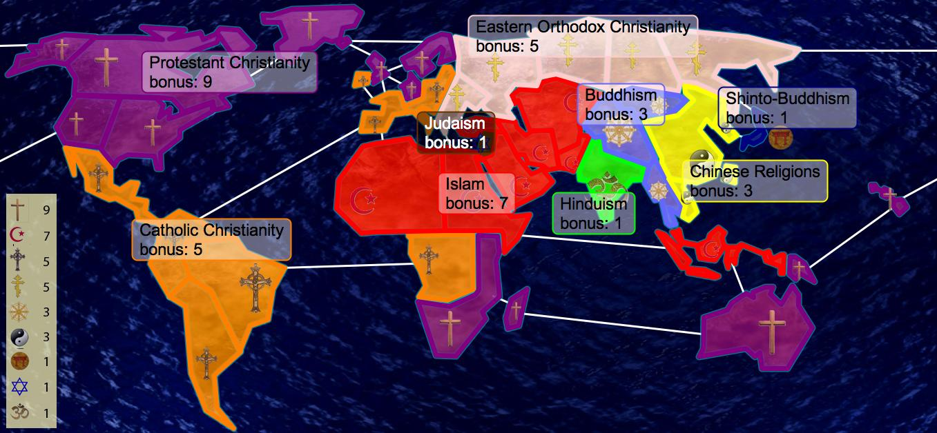 World Religion Map