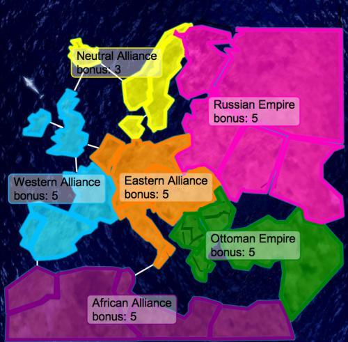 World War One Europe Map