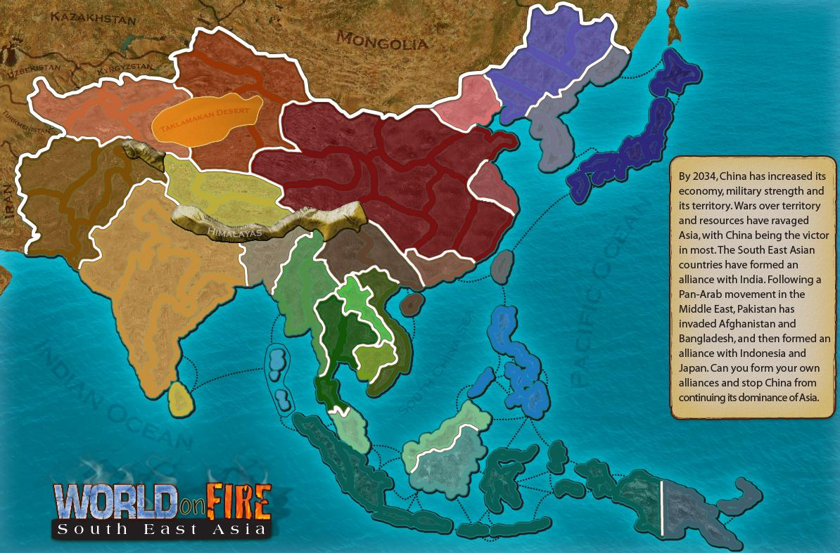 World on Fire - South East Asia Map