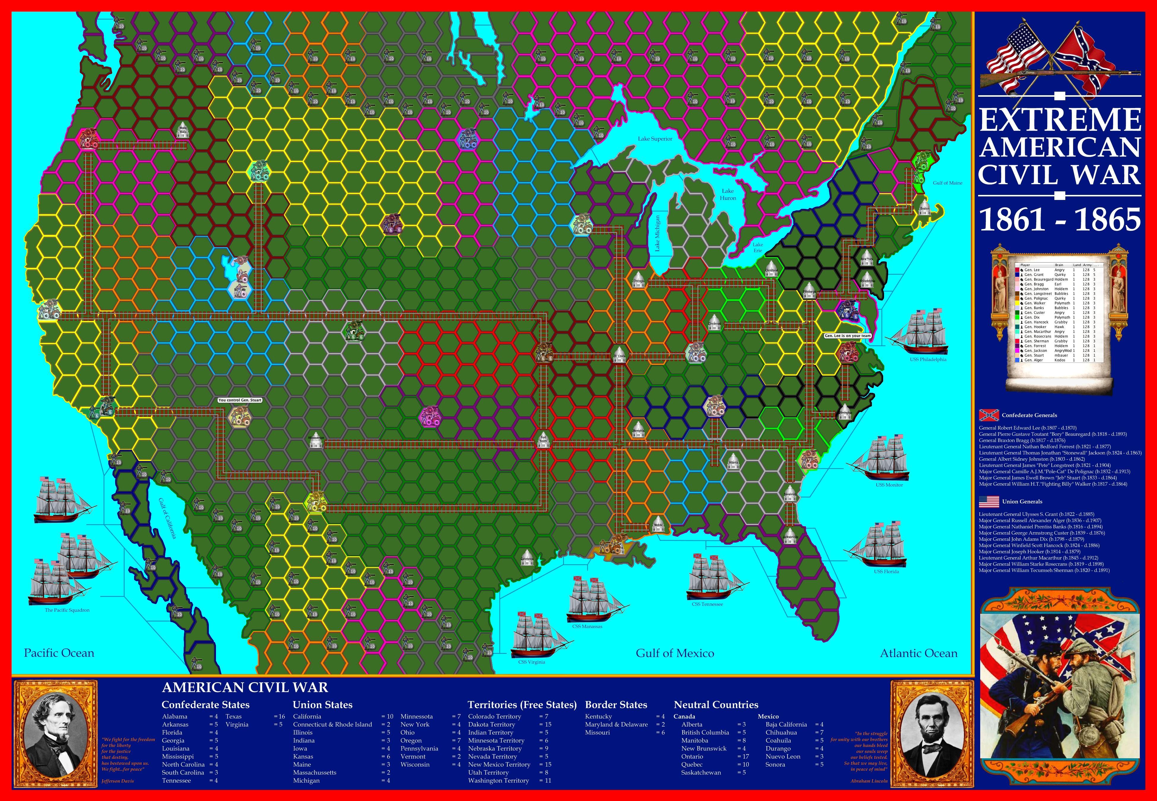 extreme american civil war map