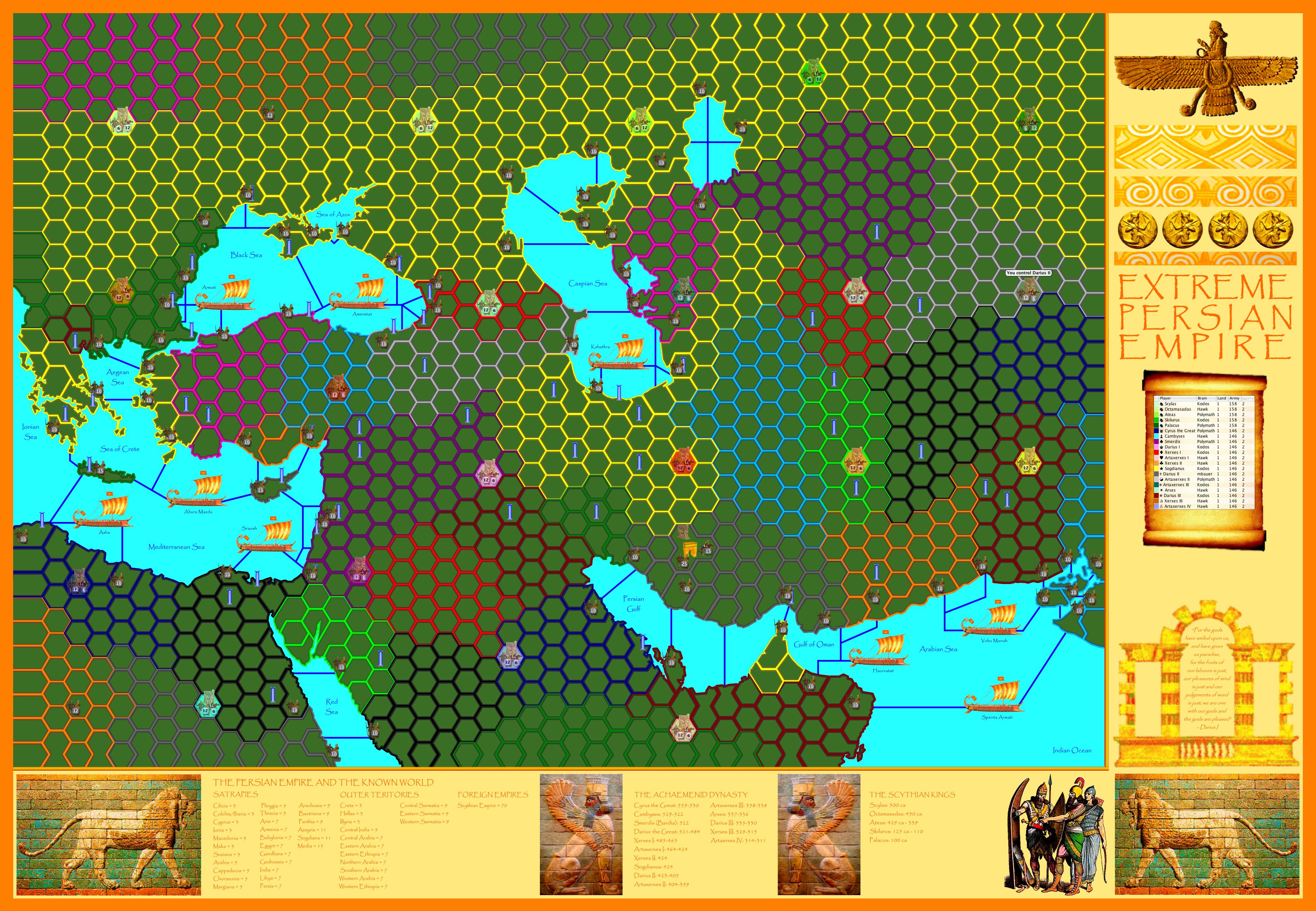 Extreme Persian Empire Map - Persian empire map