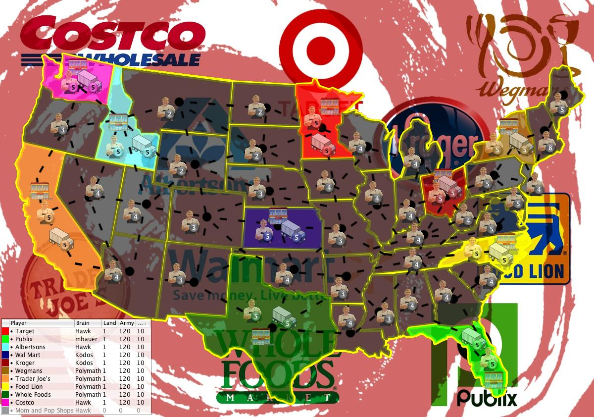 Grocery Wars USA Map - Map of costco in us