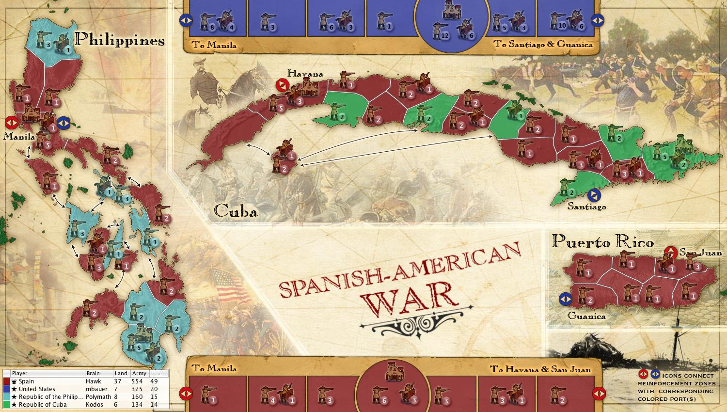 Spanish american war map spanish american war gumiabroncs Images