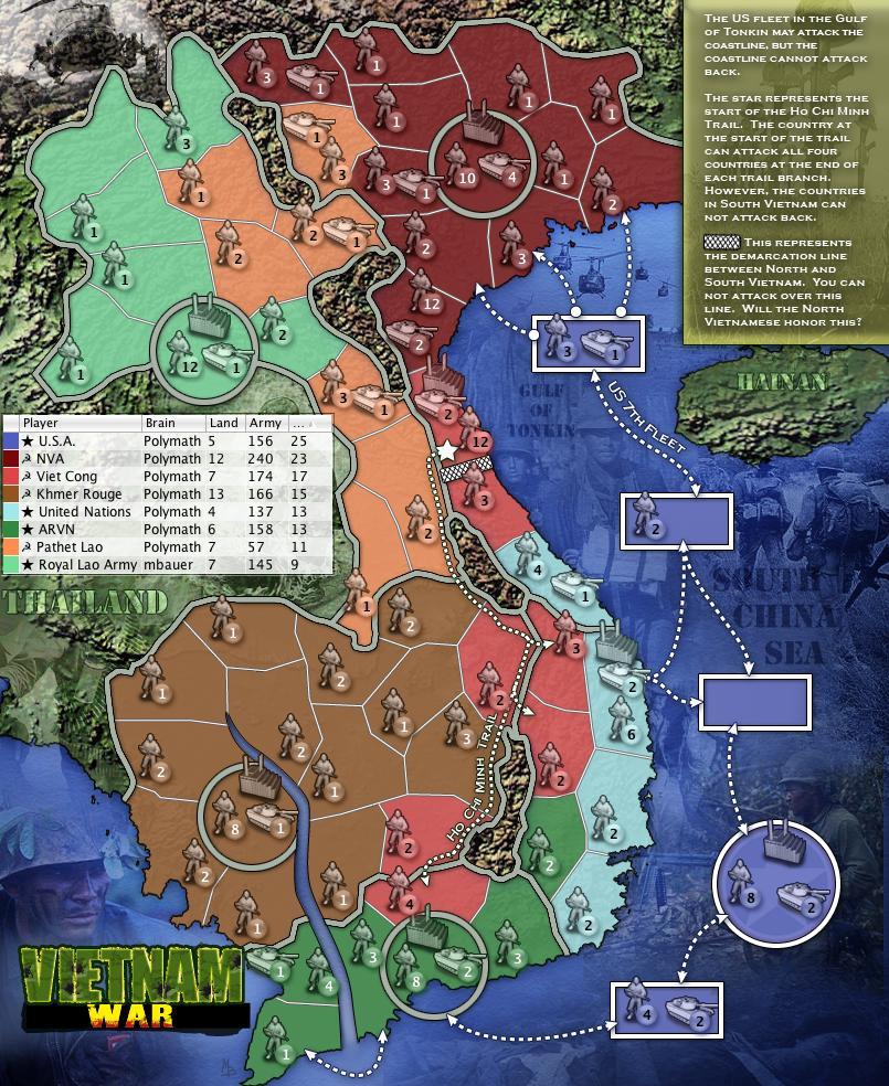 Vietnam War Map