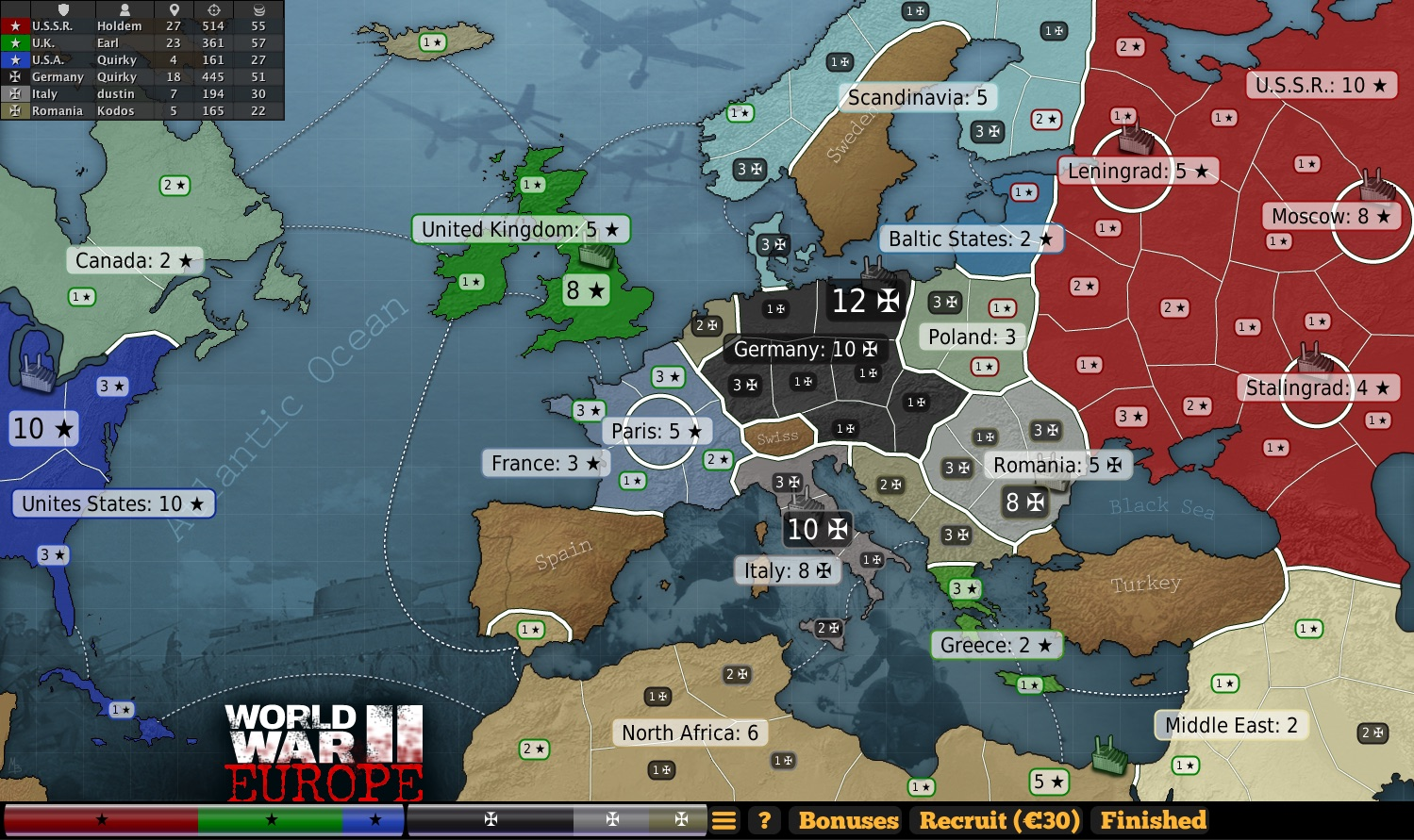 Ww2 europe map ww2 europe gumiabroncs Image collections